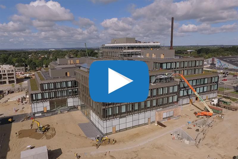 Dronevideo fra byggeriet i Gellerup